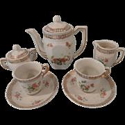 9 Piece German Child's Tea Set w/ Roses