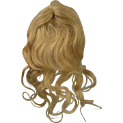 Gorgeous Antique Blond Mohair Doll Wig