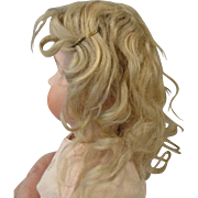 Blond Antique Doll Wig Size 12