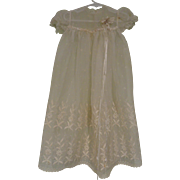 Scrumptious Organdy Christening Dress, Baby or Large Doll