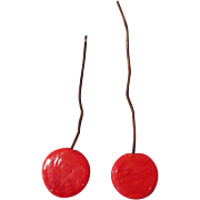 Antique Coral Doll Earrings