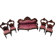 Five Piece Biedemeyer Boule Parlor Set