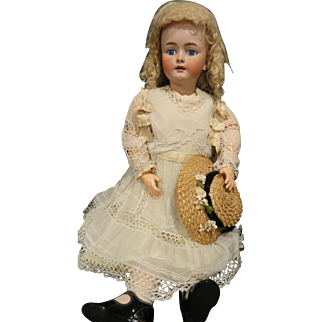 Huge Sale: Large Beautiful 35 Inch H. Handwerck Doll