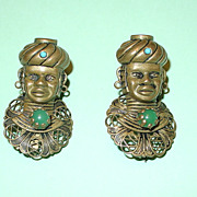 Vintage Figural African Women Pins