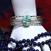 Native American #8 Edgar Mine Turquoise Navajo Cuff Bracelet