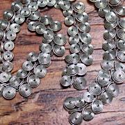 Vintage Handmade Silvertone Coil Link Necklace Set