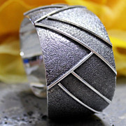 Native American Sterling Spurred Cuff Bracelet