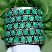 Native American Navajo Chrysoprase Cuff Bracelet
