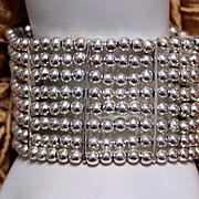 Vintage Silver Bead Bracelet