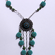 Early Miriam Haskell 1940's Beaded Necklace