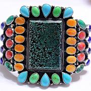 Native American Navajo Kirk Smith Sterling Bracelet