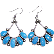 Native American Sterling Turquoise Earrings