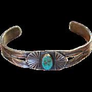 Fred Harvey Style Native American Cuff Bracelet