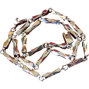 Taxco Rare Sterling Link Necklace.