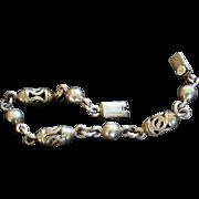 Taxco Mexico Sterling Link Bracelet