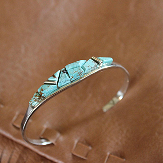 Native American Number 8 Turquoise Bracelet