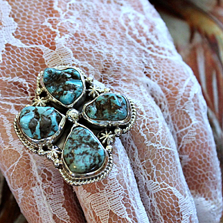 Native American Navajo Turquoise Nugget Ring