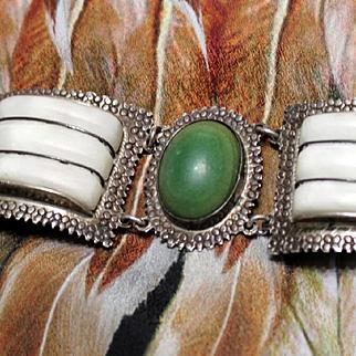Taxco Pre-1948 Five Panel Bracelet