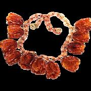 1920's-1930's Celluloid Tulip Necklace