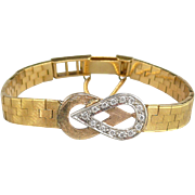 Art Deco 18K Gold and Diamond Carl Bucherer Bracelet