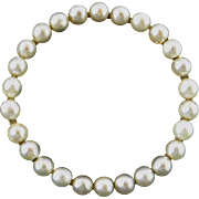 Late Victorian 14K and Natural Seed Pearl Brooch