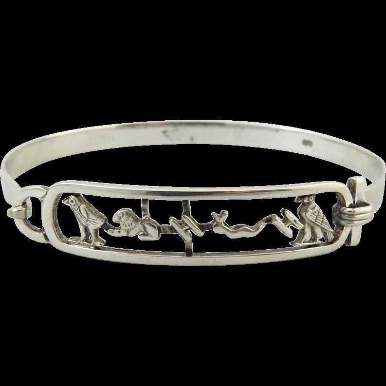 Egyptian Revival Double Cartouche Ring