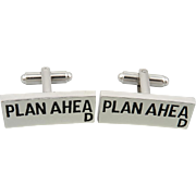 Plan Ahead Enameled Cufflinks