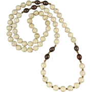 Riverstone Jasper and Cloisonne Bead Necklace 32""