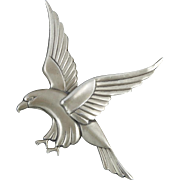 Art Deco Sterling Eagle Brooch by Coro