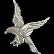 Art Deco Sterling Eagle Brooch by Coro