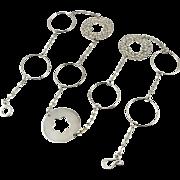 """Big Sterling Link Necklace 32"""""""