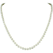 """14K Akoya 6mm Cultured Pearl Necklace 20.5"""""""