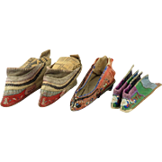 Antique Chinese Bound Feet Shoe Collection
