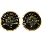 Mid Century Thermometer Cufflinks Fahrenheit and Celsius