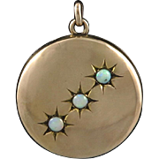 Victorian 9KT Rose Gold and Opal Locket