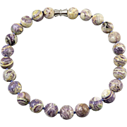 Russian Charoite Large Bead Necklace 18""