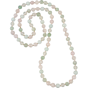 Pastel Gemstone Bead Necklace 33""