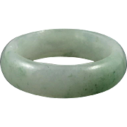 Green Jade Carved Ring