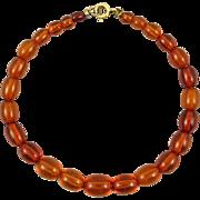 Baltic Cognac Amber Bracelet 12K GF Clasp