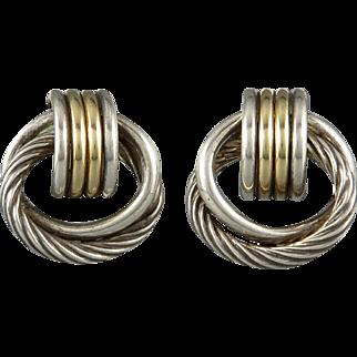 14K and Sterling Silver Multi Hoop Earrings