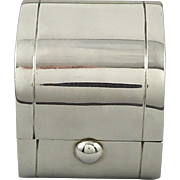 Art Deco Sterling Silver Beautiful Architectural Ring Box