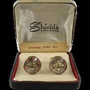 Vintage Working Roulette Cufflinks in Original Box