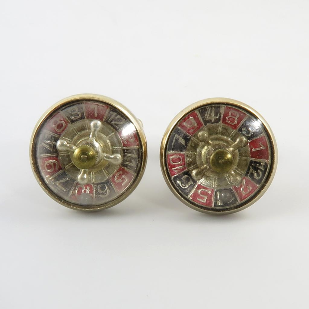 vintage working roulette cufflinks in original box from raretreasures on ruby lane. Black Bedroom Furniture Sets. Home Design Ideas