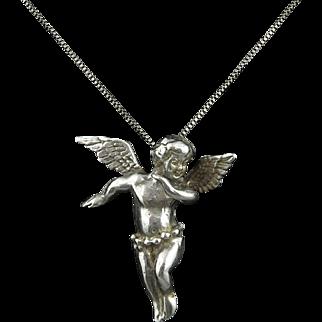 Beautiful Angel Pendant in Sterling Silver