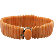 9K Victorian Salmon Coral Bracelet