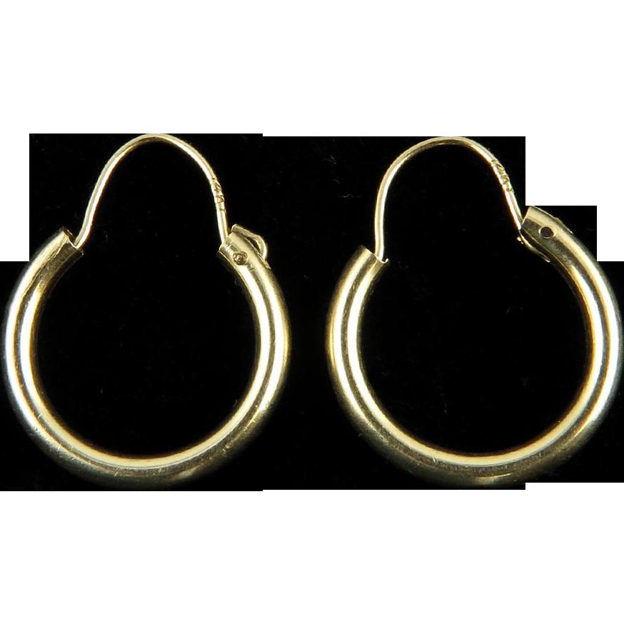 14k gold small hoop earrings from raretreasures on ruby