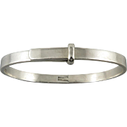 Sterling Silver Buckle Latch Hinged Style Bracelet