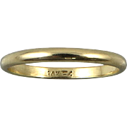 14K Gold Wedding Band 2mm Lady's Ring