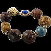 Japanese Meiji and Edo Period Ojime Bead Bracelet