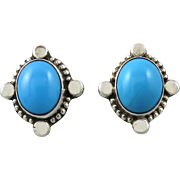 Sleeping Beauty Turquoise Sterling Silver Earrings